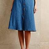 MiH Button-Front Denim Skirt