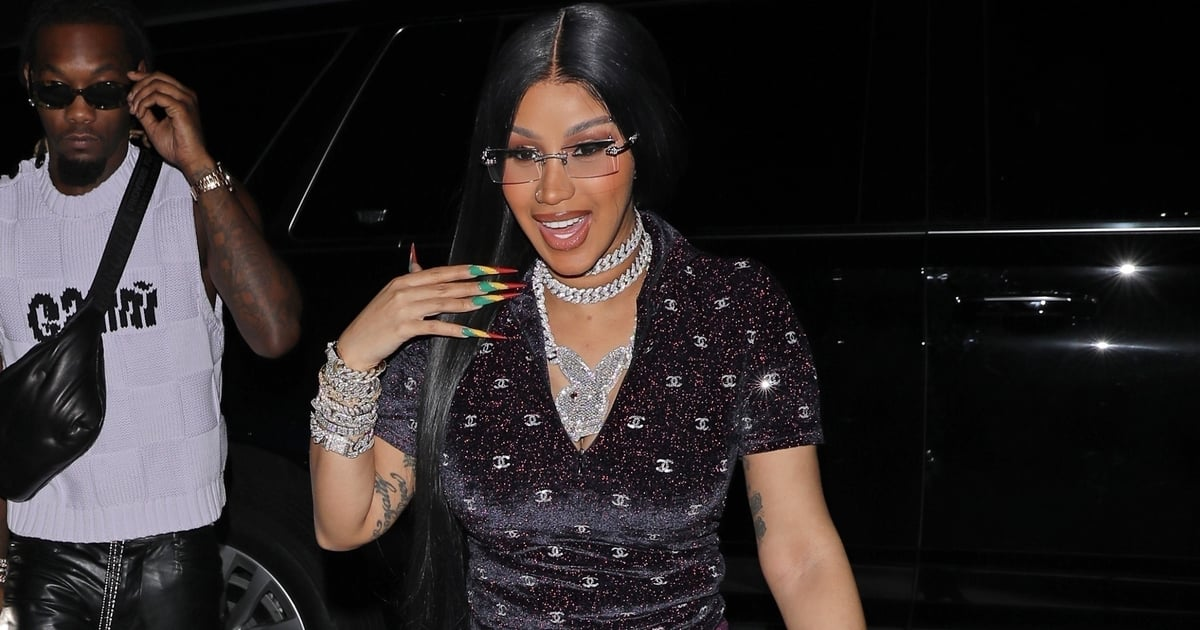 Leave It to Cardi B to Wear the Ultimate Luxury Leggings on Her Birthday —Yes, They're Chanel.jpg