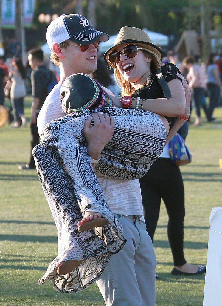 Emma Roberts and Chord Overstreet in 2012