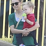 Natalie Portman was out in LA with her son, Aleph, on Monday.