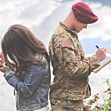 Military Husband's Mid-Photo Shoot Reaction to Wife's Rainbow Baby Pregnancy Is Too Pure