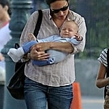 Jennifer Connelly checked on Agnes Bettany in NYC.