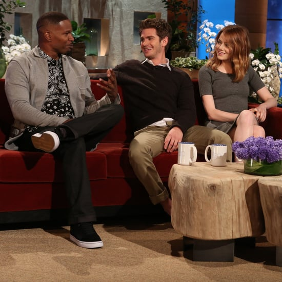 Andrew Garfield, Emma Stone, and Jamie Foxx on Ellen Show