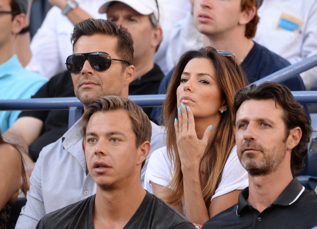 Eva Longoria sat with Ricky Martin.