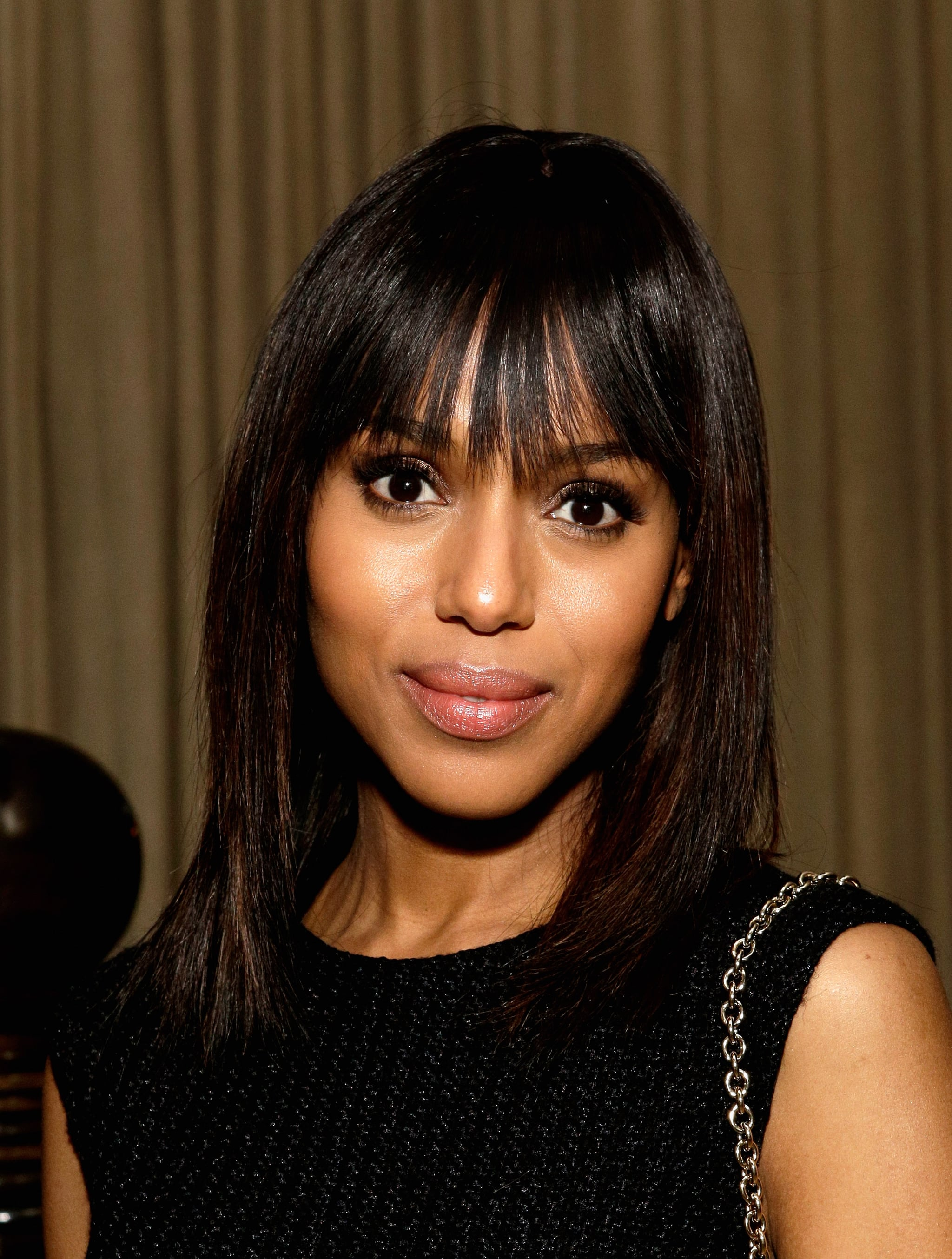 With stick-straight hair and neutral makeup, Kerry Washington looked perfectly put together.