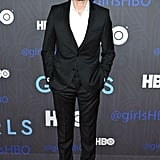 Adam Driver went for a simple suit.
