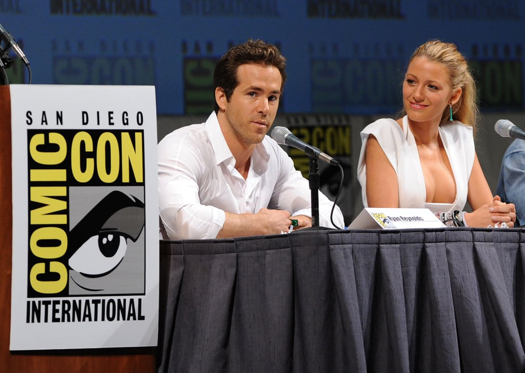 Before they were married, Ryan Reynolds and Blake Lively promoted Green Lantern together at the 2010 convention.