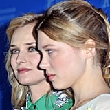 Diane Kruger and Lea Seydoux promoted Farewell My Queen.
