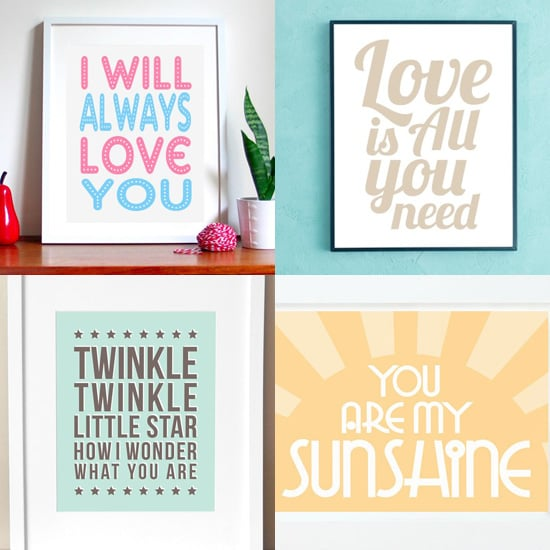 Posters With Song Lyrics