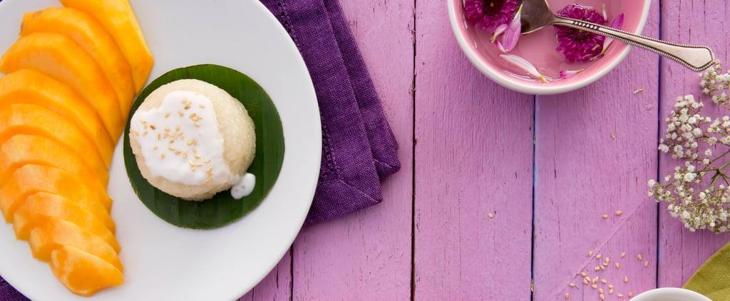 طبق أرز جوز الهند والمانجو