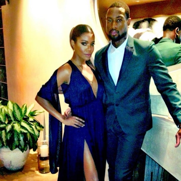 Gabrielle Union and Dwyane Wade got suited up in sexy ensembles for an Emmys party. Source: Instagram user dwyanewade