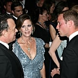 Tom Hanks and Rita Wilson with Prince William at BAFTA Brits to Watch dinner.
