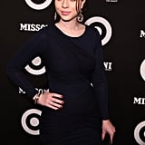 Michelle Trachtenberg had a pop of color in her nail polish.