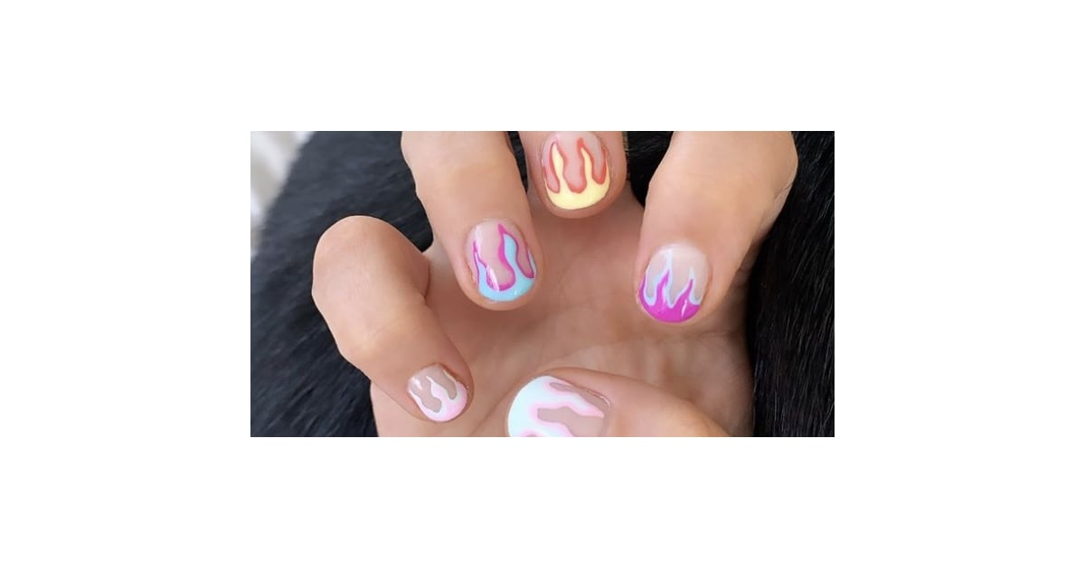 Demi Lovato Had Multicolored Flames Painted Onto Her Nails, and Damn, They're Hot