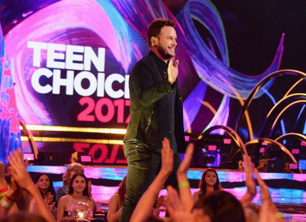 Chris Pratt at the 2017 Teen Choice Awards