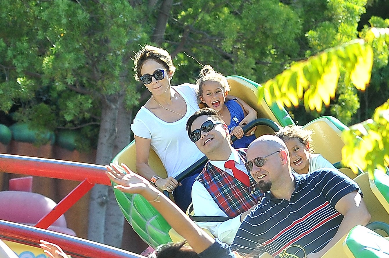 Jennifer Lopez and her daughter, Emme, were all smiles at Disneyland.