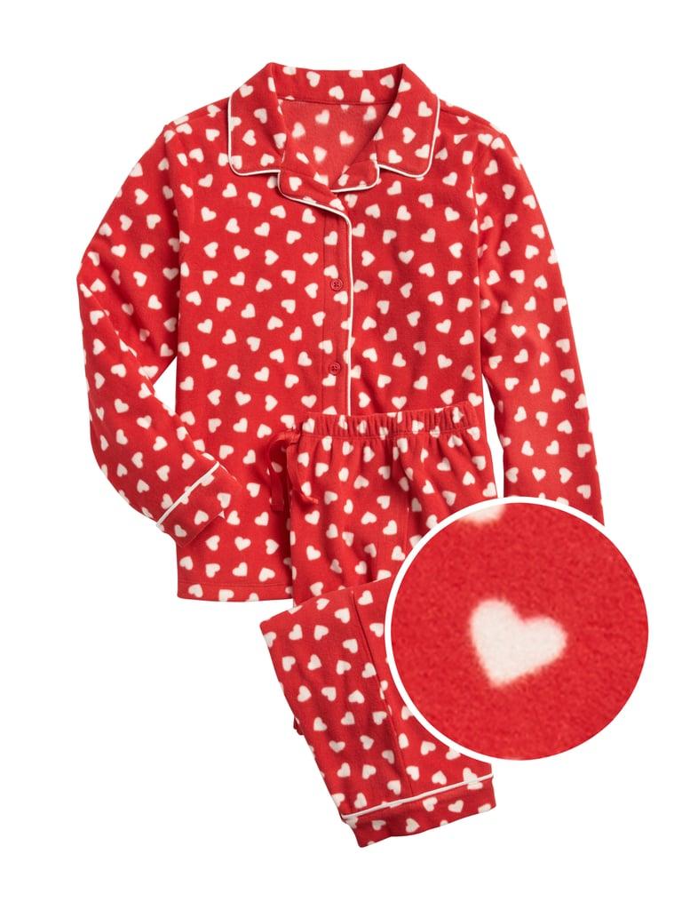 Kids Heart PJ Set in Fleece