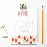Geometric Modern Desk Calendar  ($18-$20)
