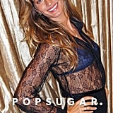 Gisele Bundchen in a sheer top.