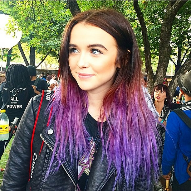You know what stands out in a crowd? Purple ombré hair.  Source: Instagram user POPSUGARBeauty