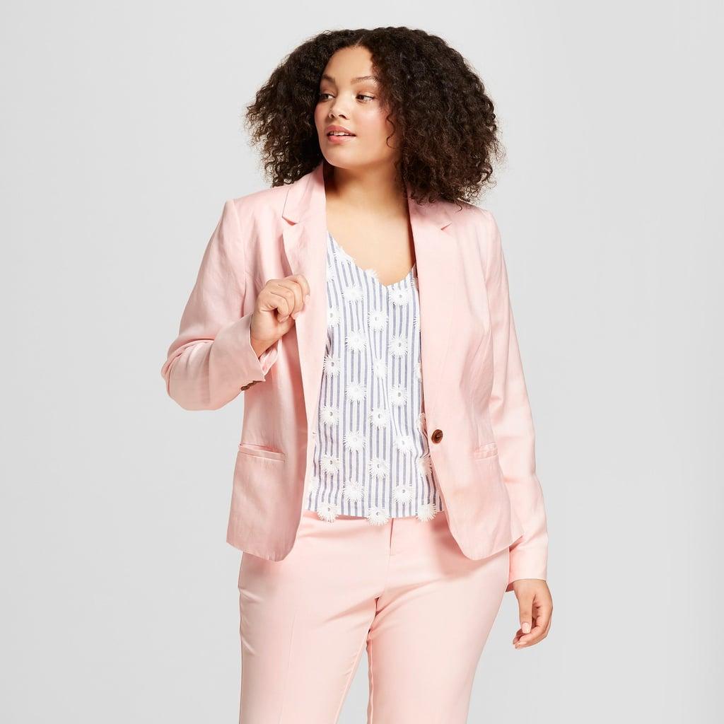 A New Day Women's Plus Size Linen Blazer