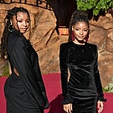 Pictured: Chloe and Halle Bailey at The Lion King premiere in Hollywood.