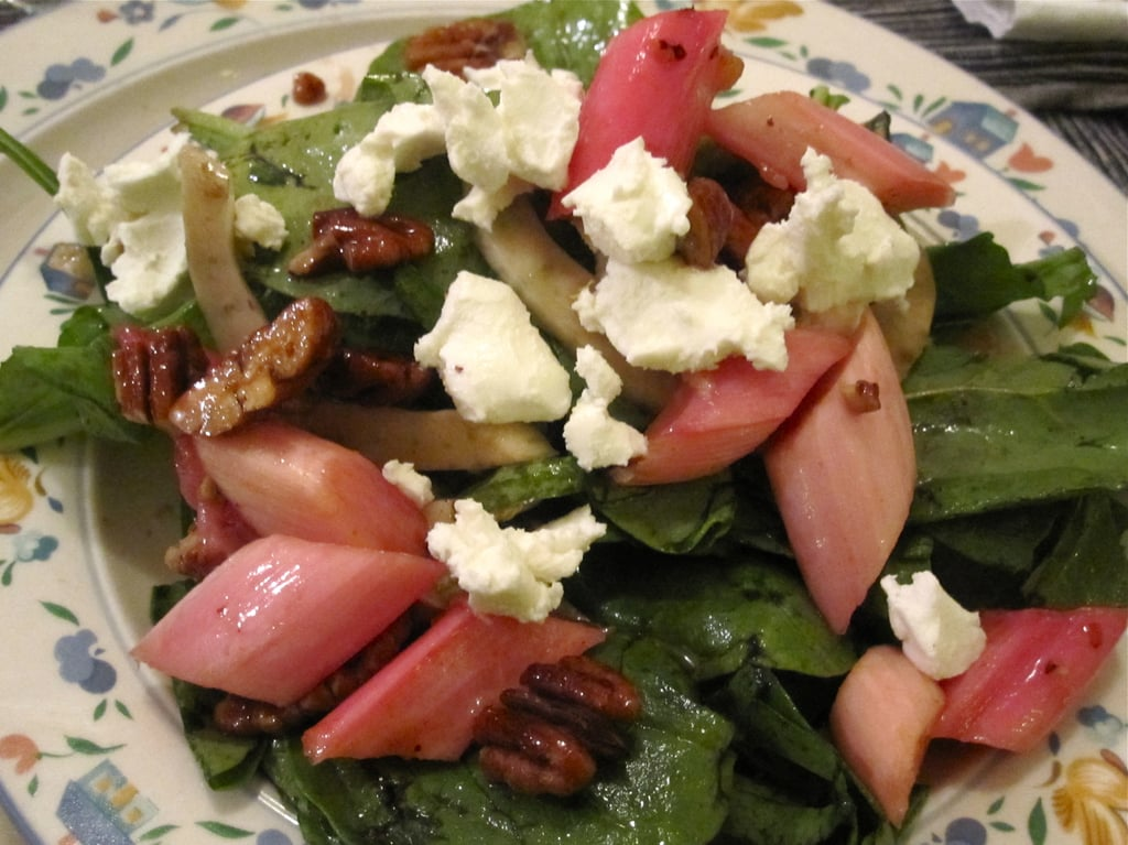 Rhubarb Salad with Goat Cheese