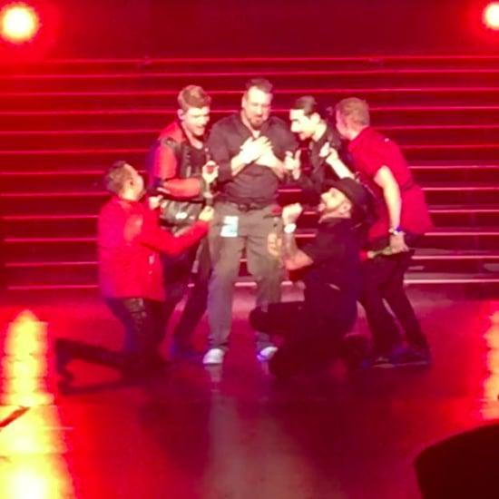 Backstreet Boys Bring Joey Fatone on Stage in Las Vegas 2017