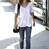 Natalie Portman wore a pair of sneakers and jeans.
