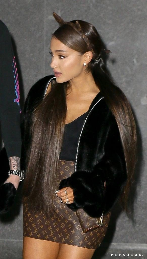 9968deee58 Ariana Grande Louis Vuitton Skirt