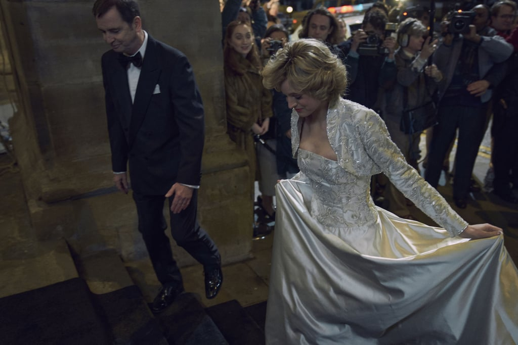 Princess Diana's White Gown on The Crown