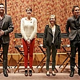 Anne Hathaway, Amanda Seyfried, Eddie Redmayne, and Hugh Jackman attended a SAG screening for Les Misérables.