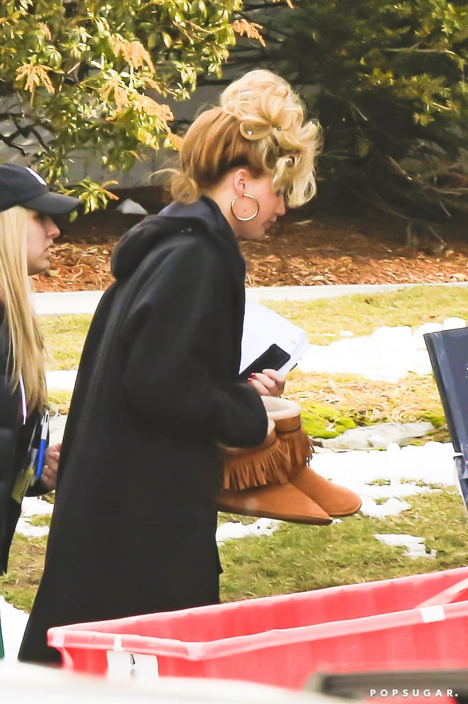 Jennifer Lawrence sported a crazy hairdo on the Boston set of her David O. Russell movie.