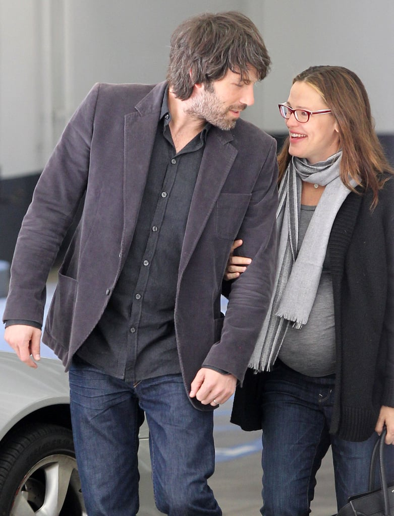 Jennifer Garner and Ben Affleck showed affection during a day out in LA in January 2012.