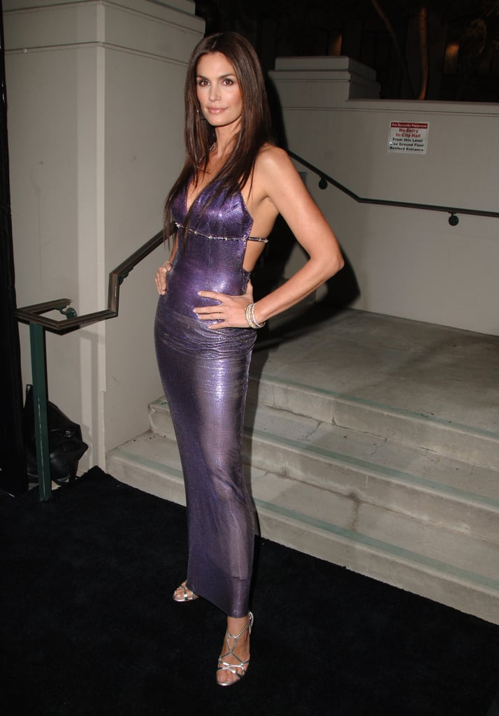 Cindy Crawford in Versace at the Walk of Style Awards