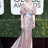 Claire Foy in Erdem at the Golden Globes.