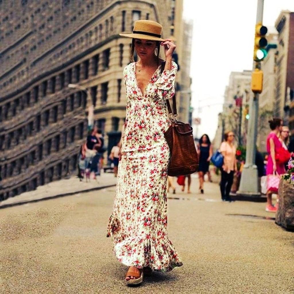 52879c86ebd6 Sunward Floral Maxi Dress