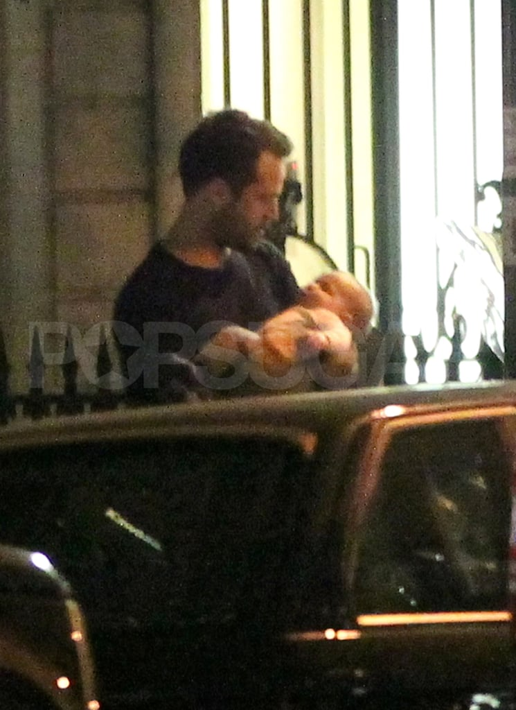 Benjamin Millepied with son, Aleph.