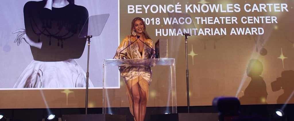 Beyoncé Fights Back Tears Receiving a Huge Honour at the 2018 Wearable Art Gala