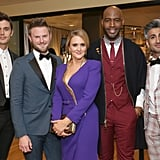Antoni Porowski, Bobby Berk, Samantha Bee, Karamo Brown, and Tan France at the 2018 Emmy Awards