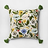 Get the Look: Floral-Print Reverse to Velvet Oversize Square Throw Pillow