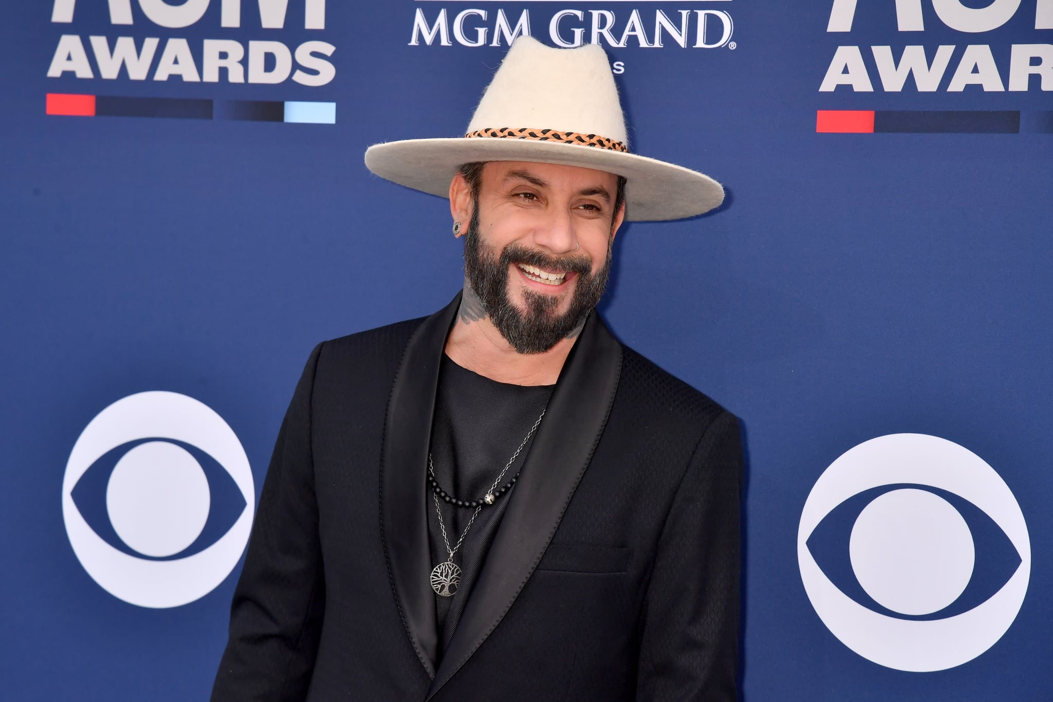 LAS VEGAS, NEVADA - APRIL 07: AJ McLean attends the 54th Academy Of Country Music Awards at MGM Grand Hotel & Casino on April 07, 2019 in Las Vegas, Nevada. (Photo by Jeff Kravitz/FilmMagic)