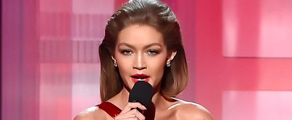 Gigi Hadid's Melania Trump Impression American Music Awards