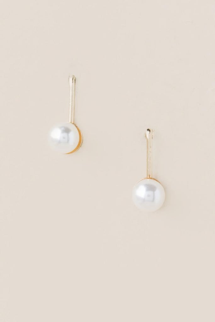 pearl earrings long drop
