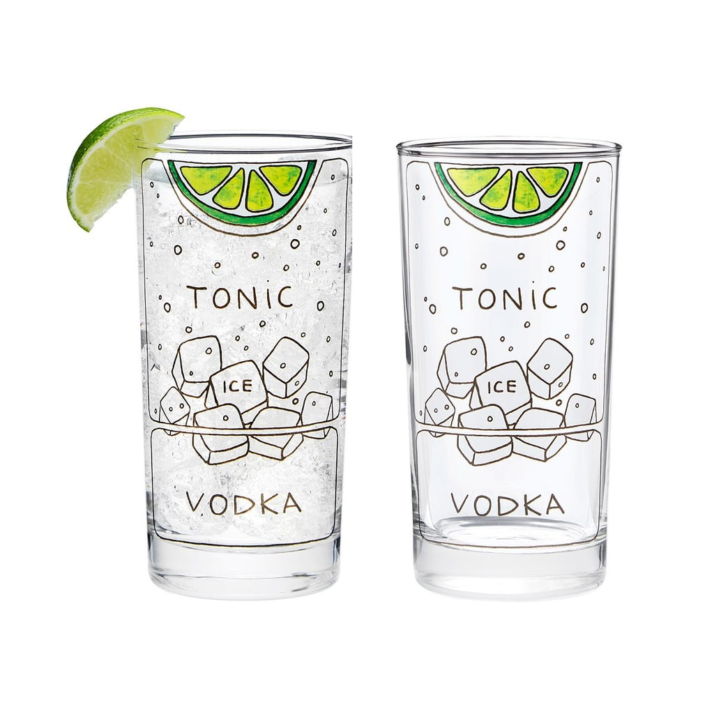 Vodka Tonic Diagram Glassware Set
