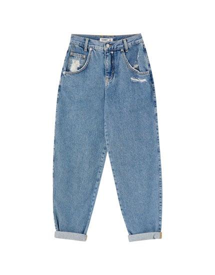 pull&bear Basic blue slouchy jeans