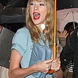 Taylor attended the Elie Saab runway show during Paris Fashion Week in February 2012.