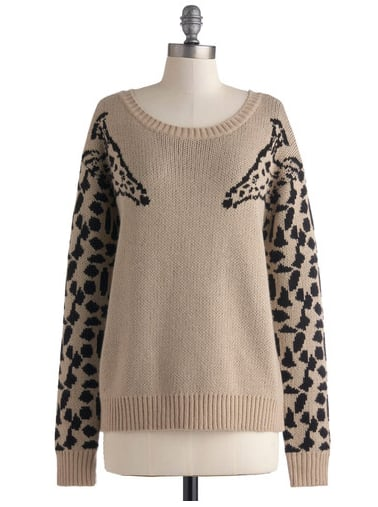 You have to love the creativity of this Modcloth Eye to Eye-Catching Sweater ($50).