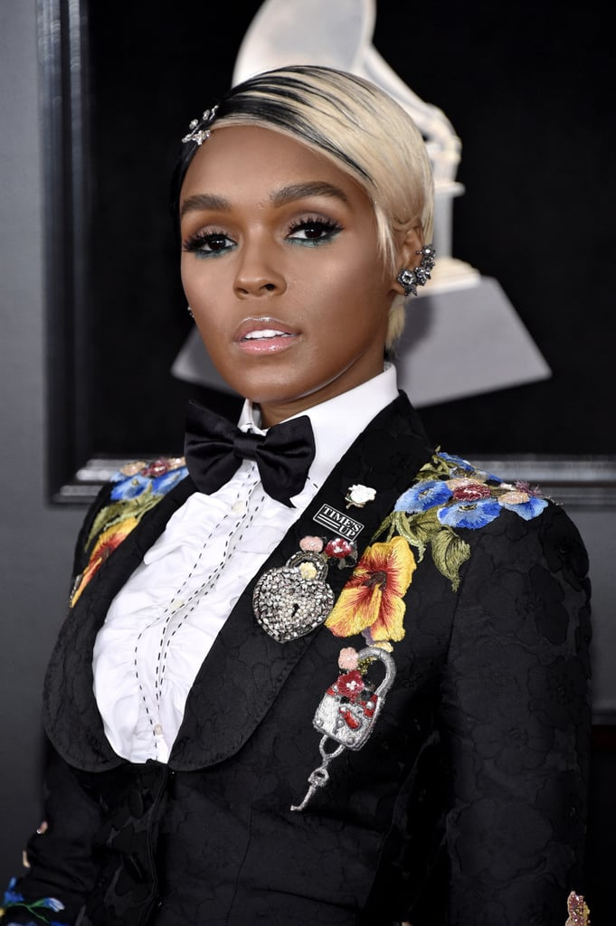 Hair Makeup Grammys Red Carpet Pictures Janelle Monae