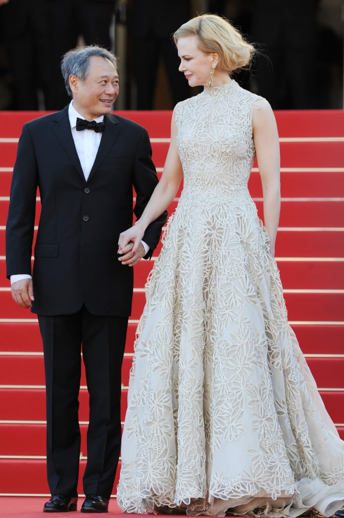 Nicole Kidman held on to Ang Lee at the Nebraska premiere on Thursday at the Cannes Film Festival.